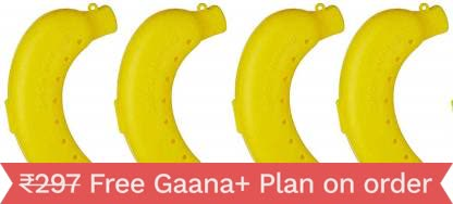 MOUNTHILLS Plastic Banana Food Storage, Banana case, Container, Lunch Box Containers-100 ML (Pack Of 4)