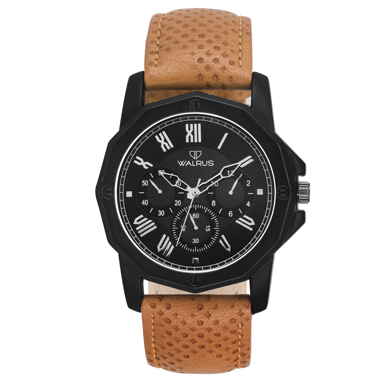 Walrus Brown Leather Watch For Men