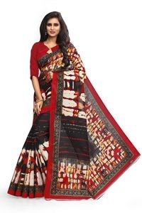 Sharda Creatoin Multicolour Bhagalpuri Printed Silk saree????