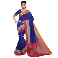 Sunaina Multicolor Polycotton Sarees For Women