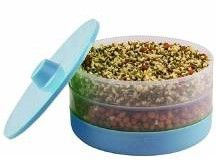 MOUNTHILLS Plastic Sprout Maker with 3 Container Organic Home Making Fresh Sprouts Beans for Living Healthy Life Sprout Maker 3 Layer Bowl - 1000 ml (Blue, Pack Of 1)