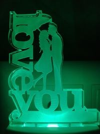 MOUNTHILLS I Love You Romantic couple Night Lamp with 7 Color Changing 9 cm (Multiolor, Pack Of 1)