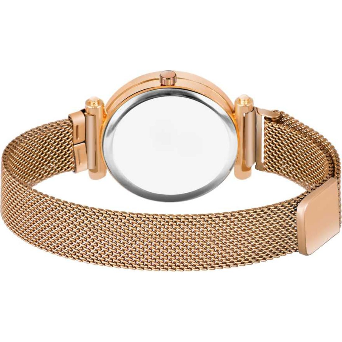 HRV Collection Four Figar Rose Gold Megnet Blet Women Wrist Watch