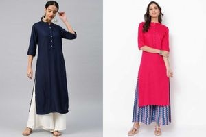 NG Fashion Women Solid Rayon A-line Kurta Combo Pack of 2