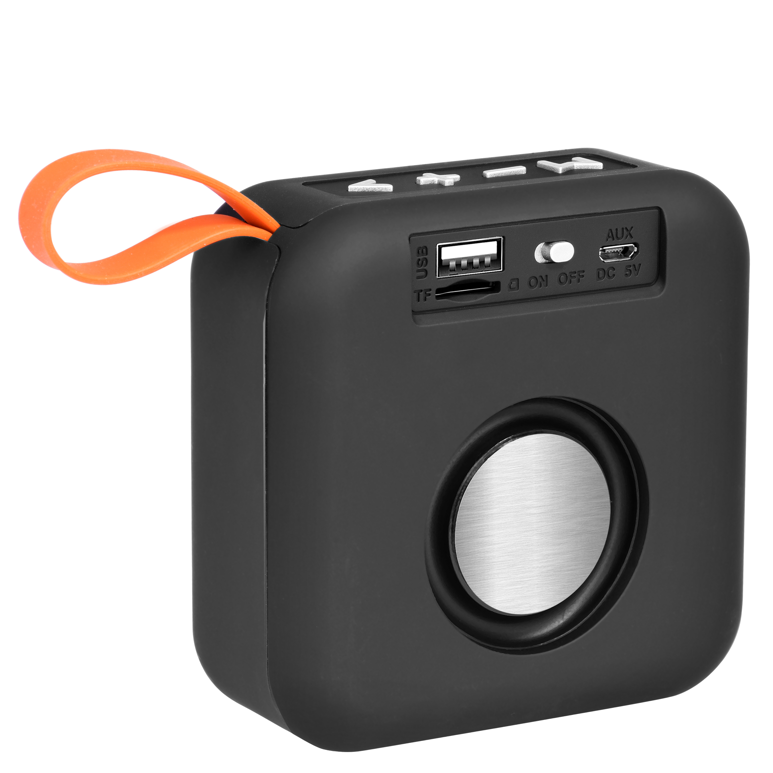 Mini Portable Bluetooth Outdoor Wireless Speaker With Hd Sound And Bass And In-Built Fm Radio(Black)