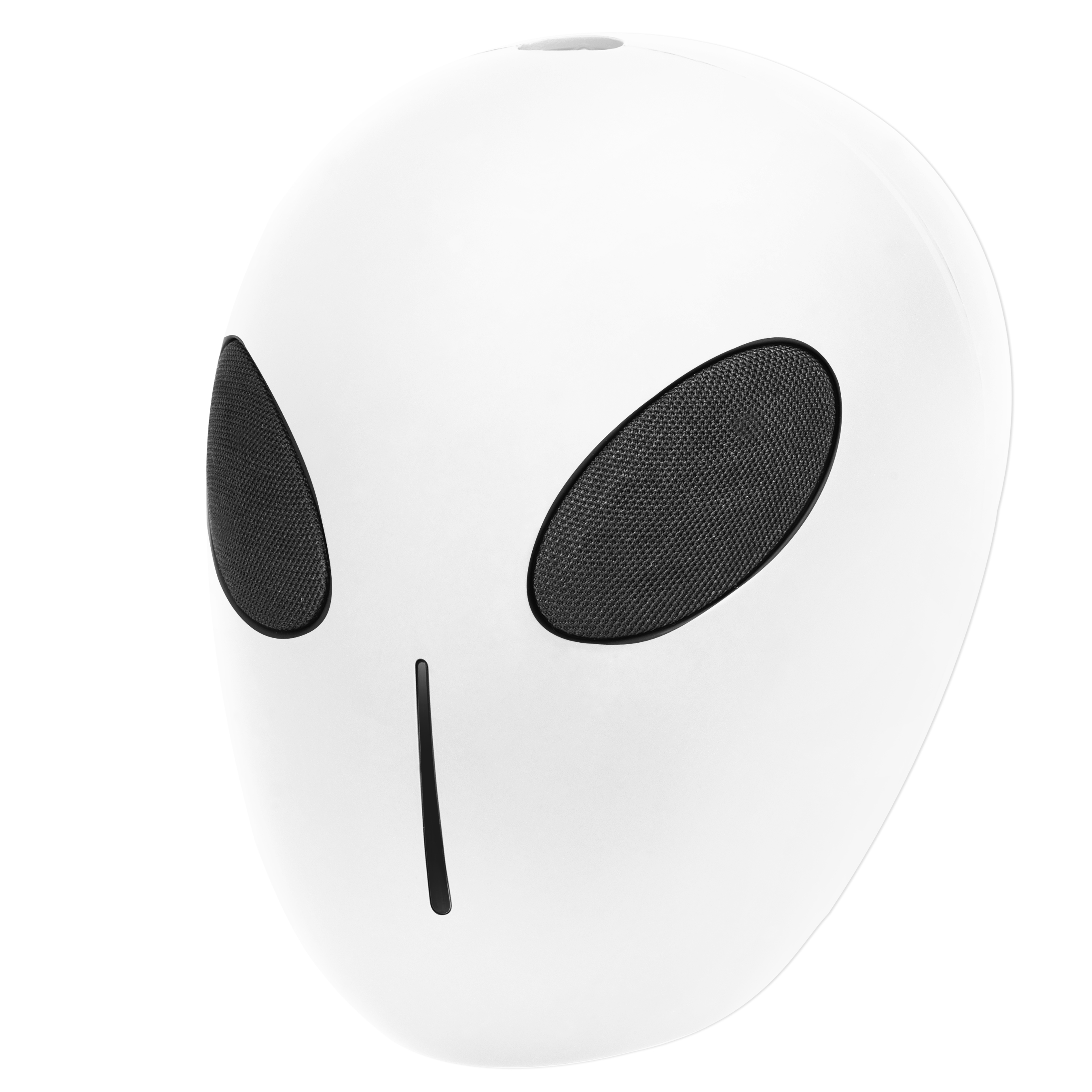 Alien Bluetooth Speaker With 6-8-Hour Playing Time, Built-In Mic, Handsfree Call, Aux Line, Usb Flash Drive, Micro Sd Card, Hd Stereo Sound And Bass(White)