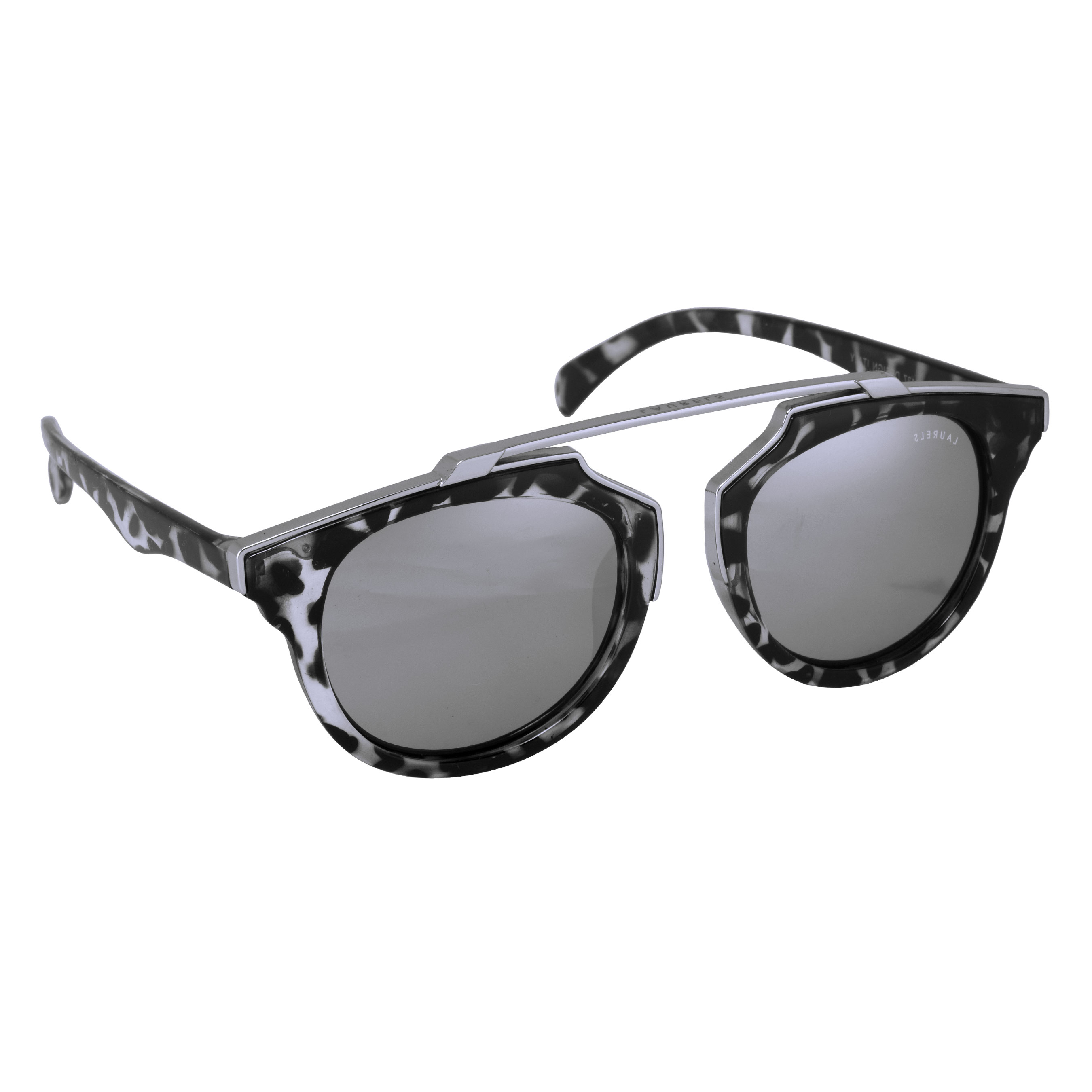 Laurels Black Polycarbonate Rectangular Frames Sunglass For Men