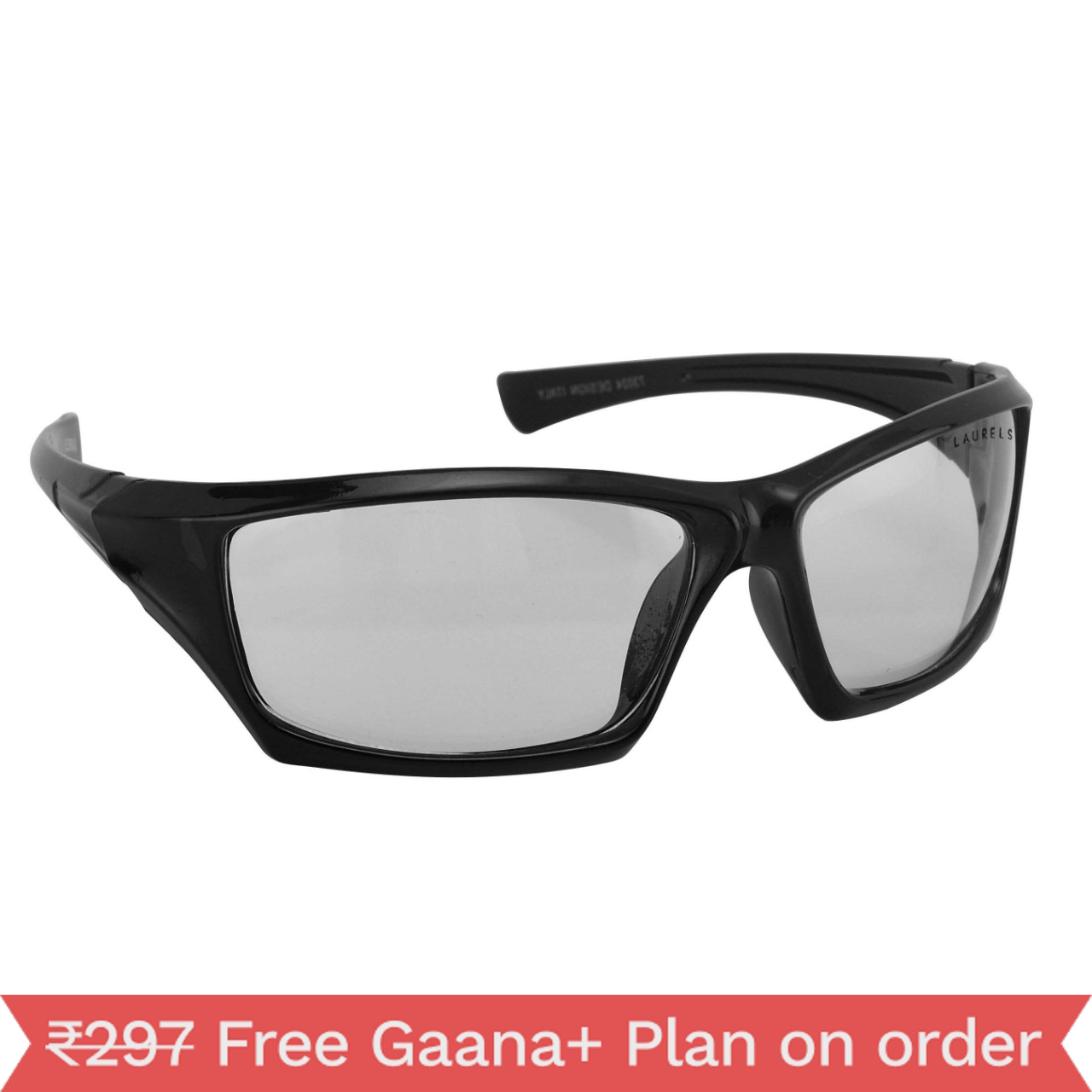 Walrus Black Polycarbonate Wayfarers Sunglass For Men