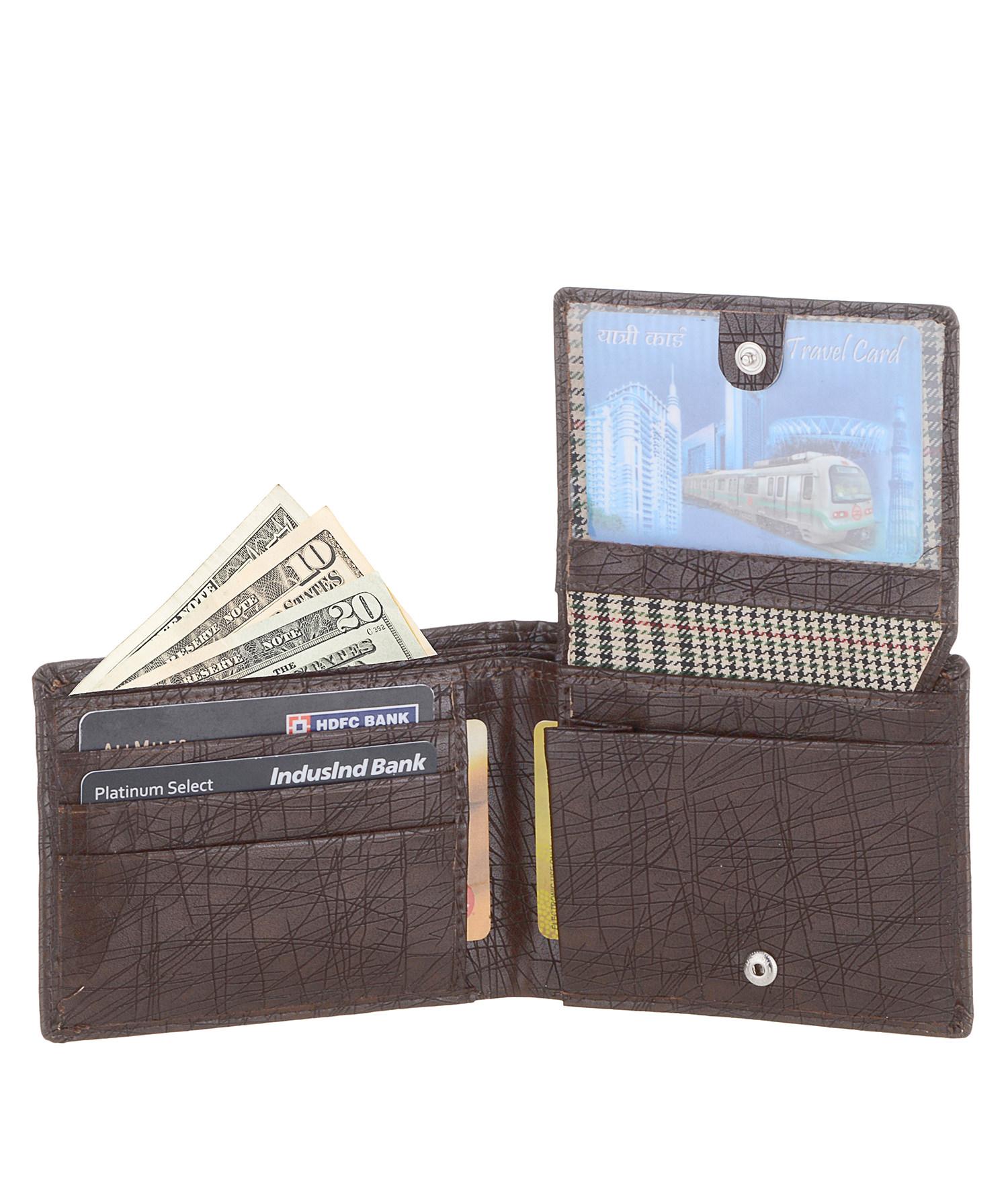 Laurels Black PU Wallets For Men