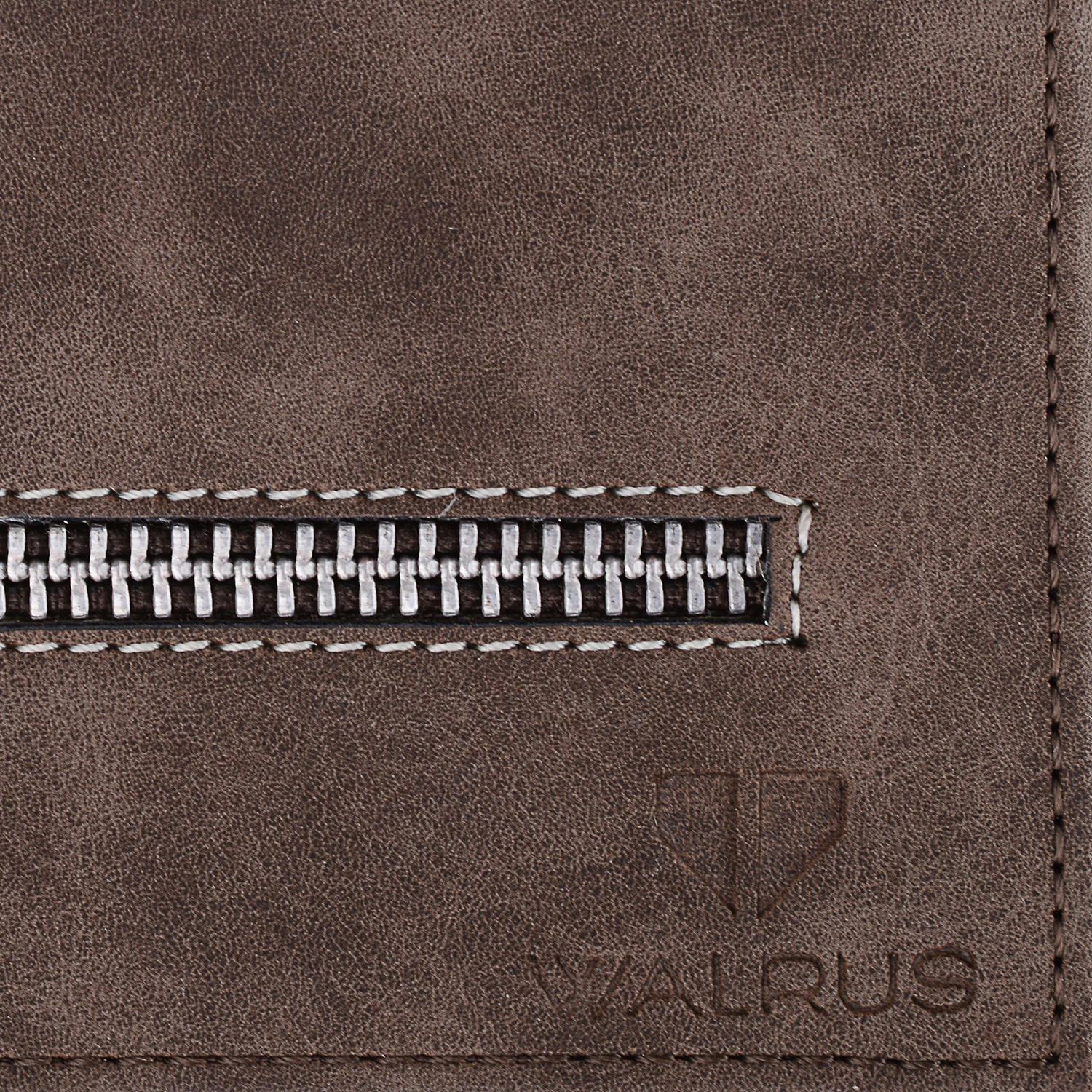 Walrus Brown PU WalletsFor Men
