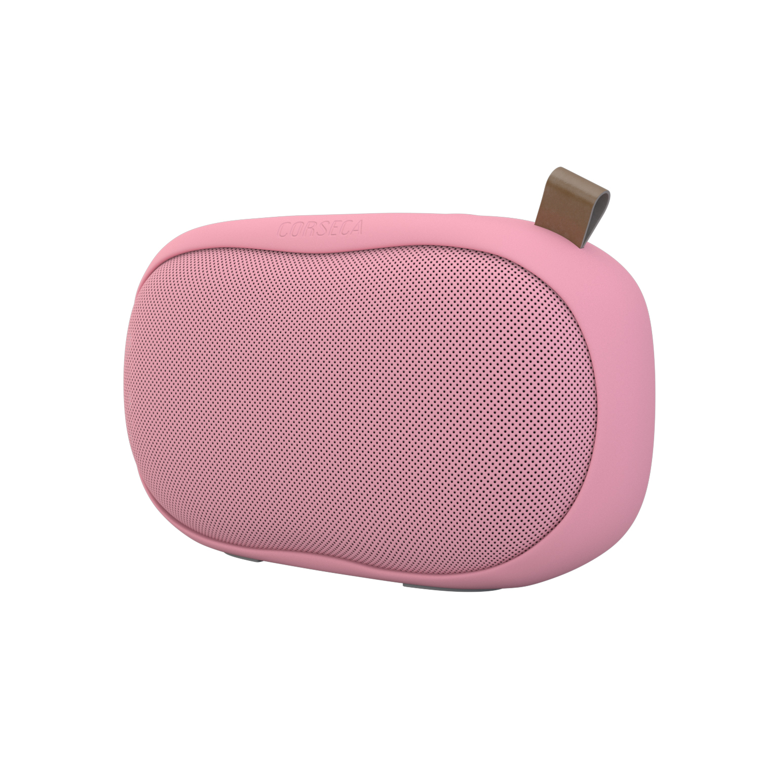 Corseca Sushi 10W Wireless Portable Bluetooth Speaker with FM Radio HD Sound and Deep Bass with Built-in Mic SD Card and Aux (Pink)