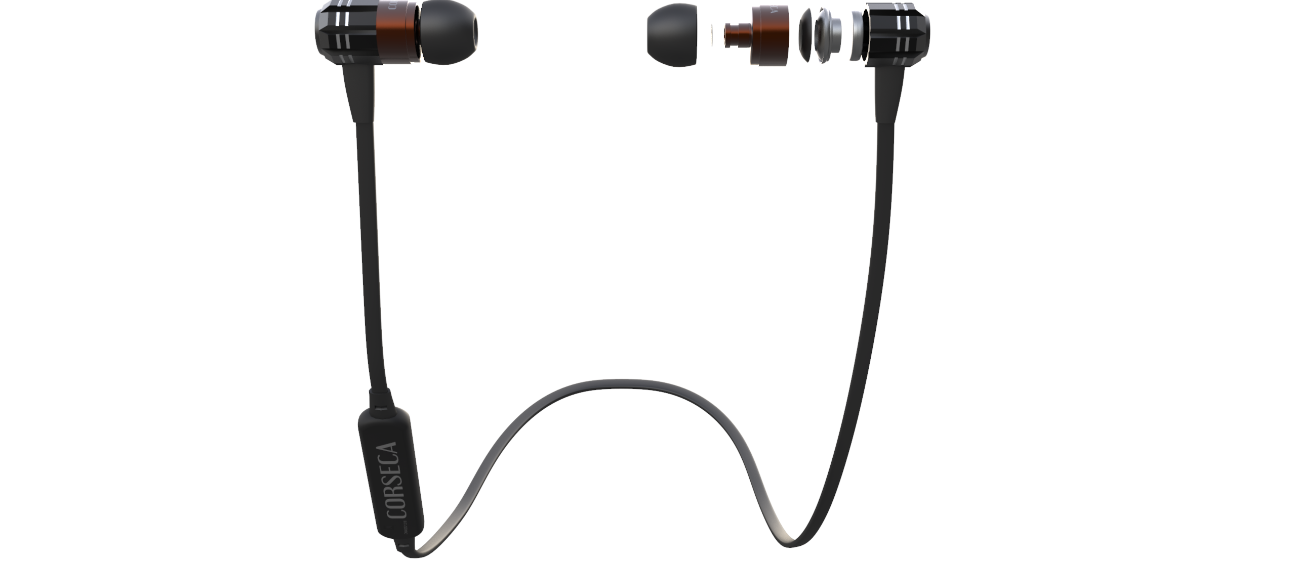 Corseca Hoop 2 DM4820 Bluetooth Stereo Neckband with TF Card MP3 Player & Mic