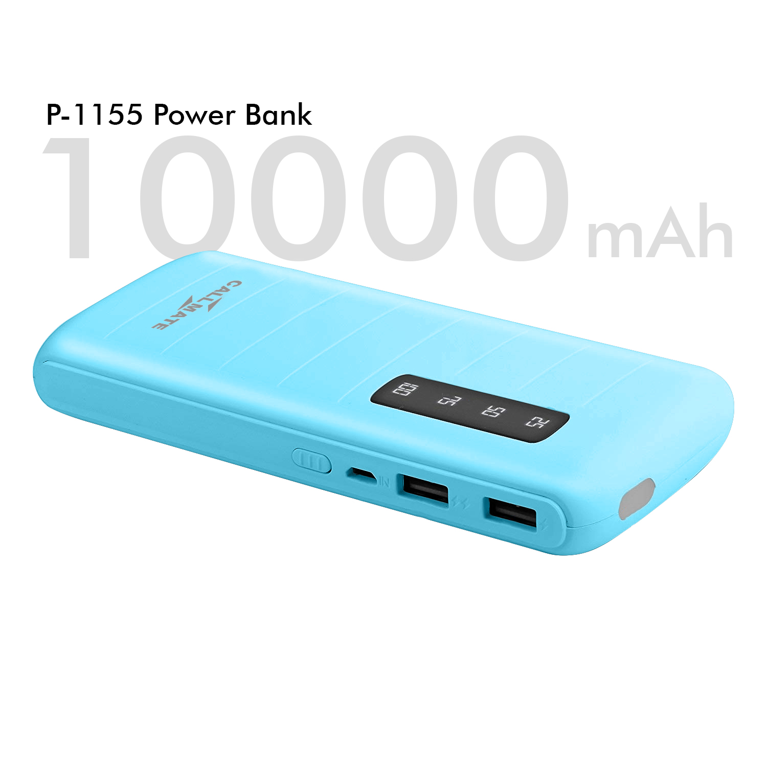 Callmate G1155 2A Fast Charge 10000 -mAh Li-ion Power Bank Blue