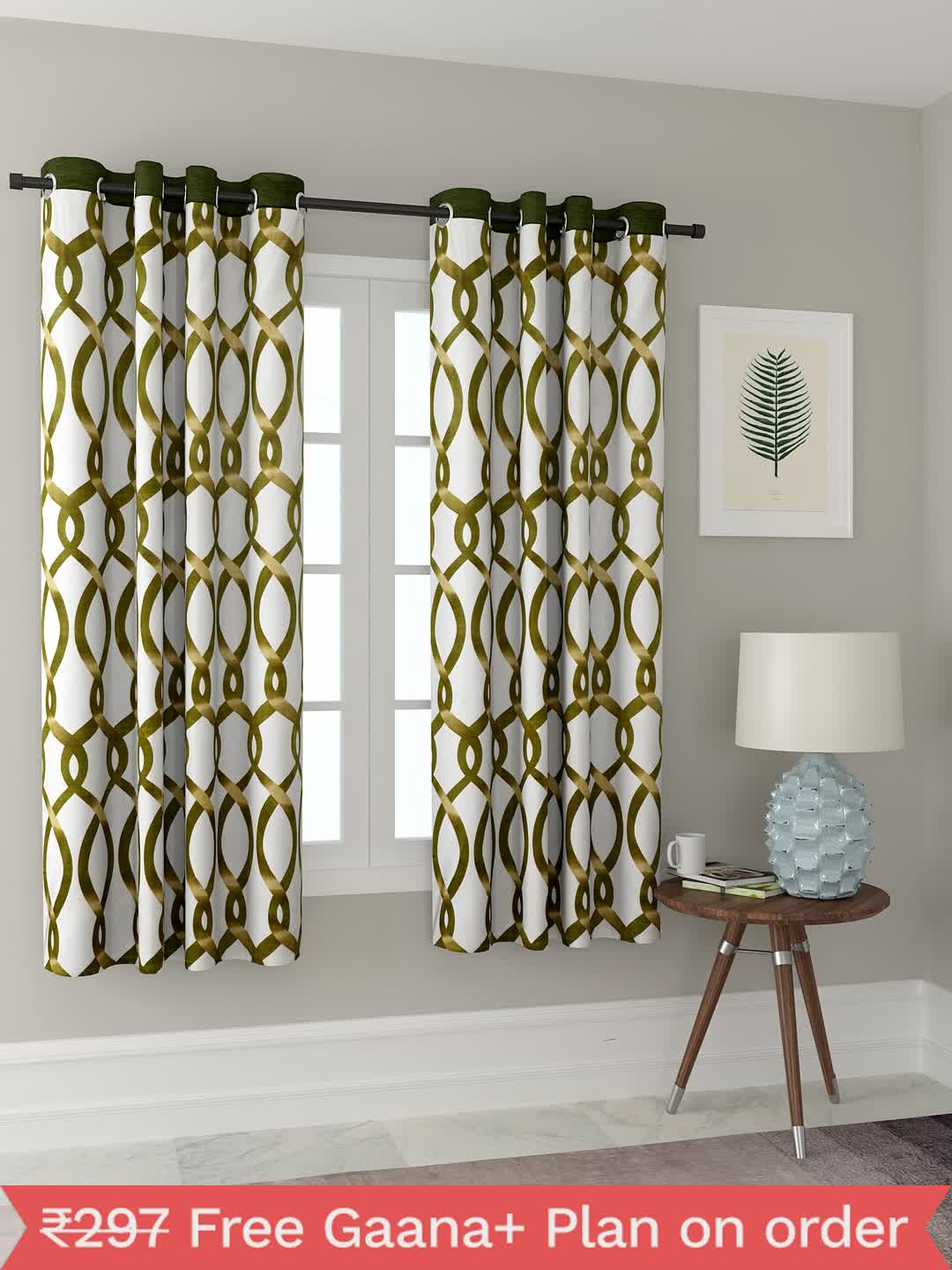 Polyester Printed Window Curtains for Bedroom, Kitchen, Kids or Living Room-012_Set of 2 - 1, Small