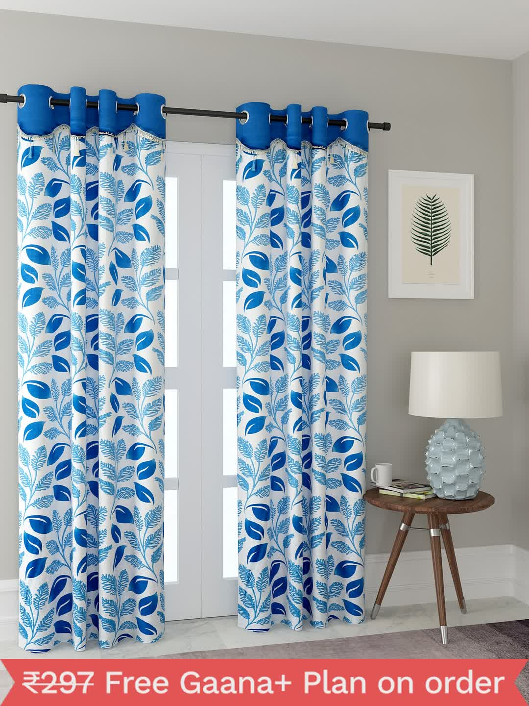 Polyester Printed Window Curtains for Bedroom, Kitchen, Kids or Living Room-004_Set of 2 - 1, Medium