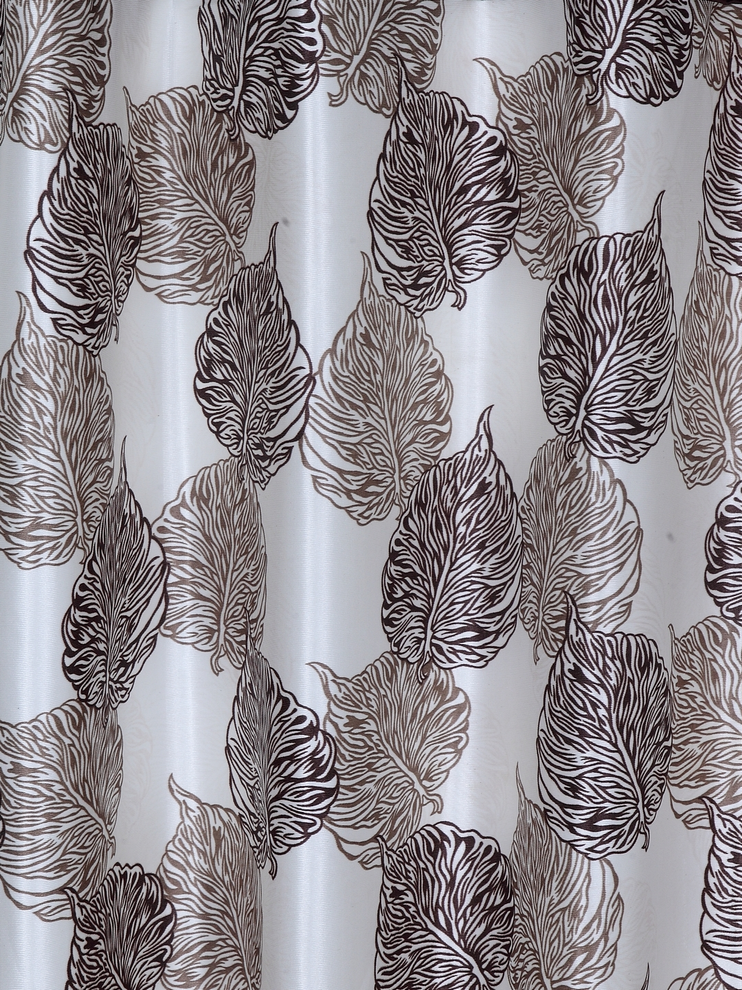 Polyester Plain Printed Window Curtains for Bedroom, Kitchen, Kids or Living Room-034_Set of 2