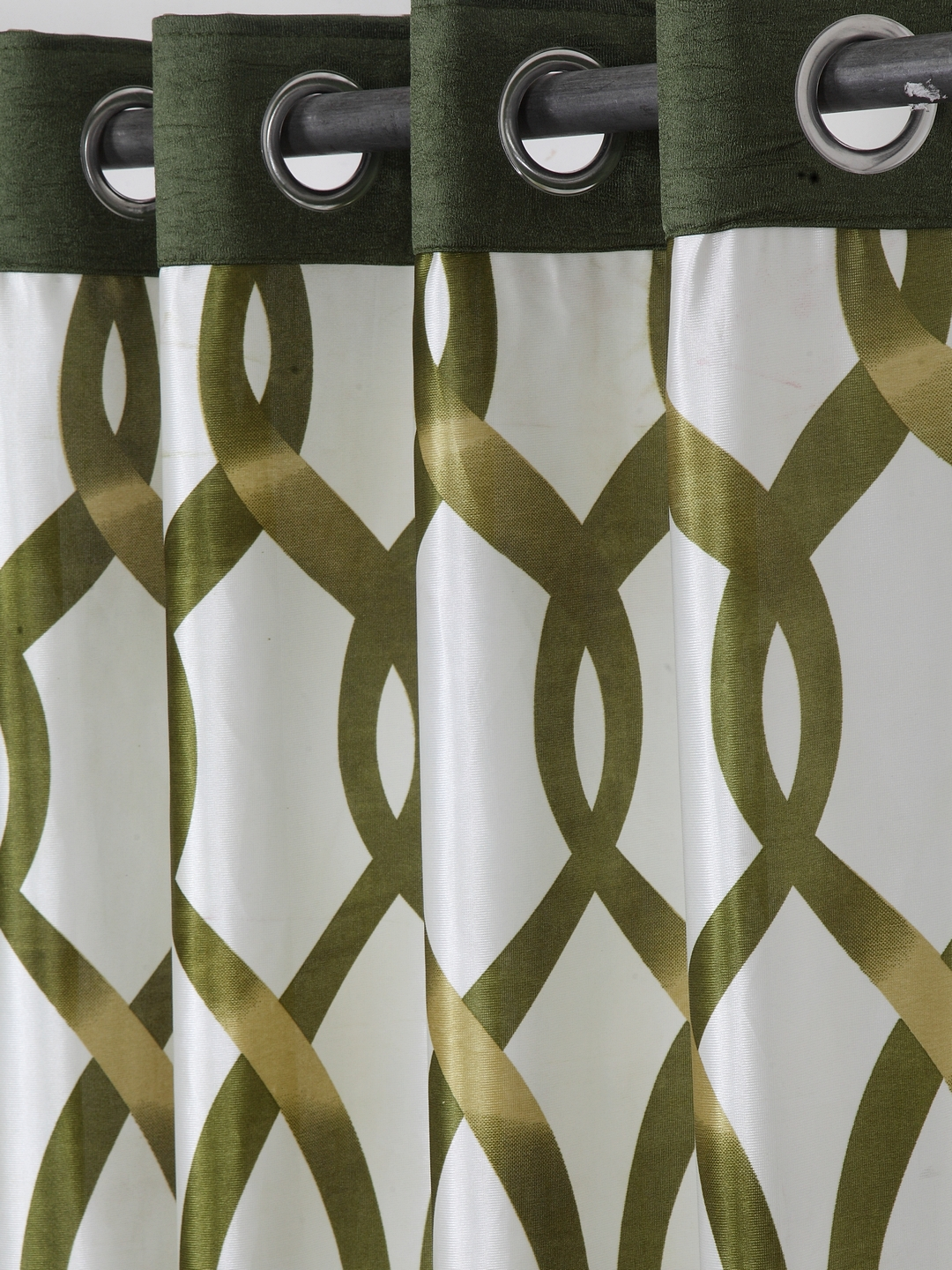 Polyester Printed Window Curtains for Bedroom, Kitchen, Kids or Living Room-012_Set of 2