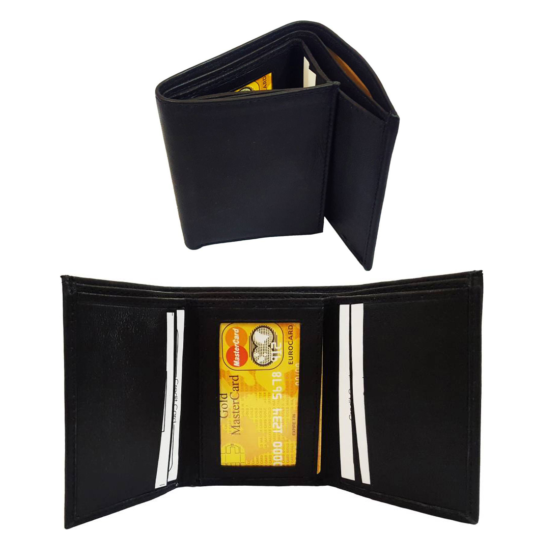 JARS Collections Stylish Leather Tri Fold Wallet