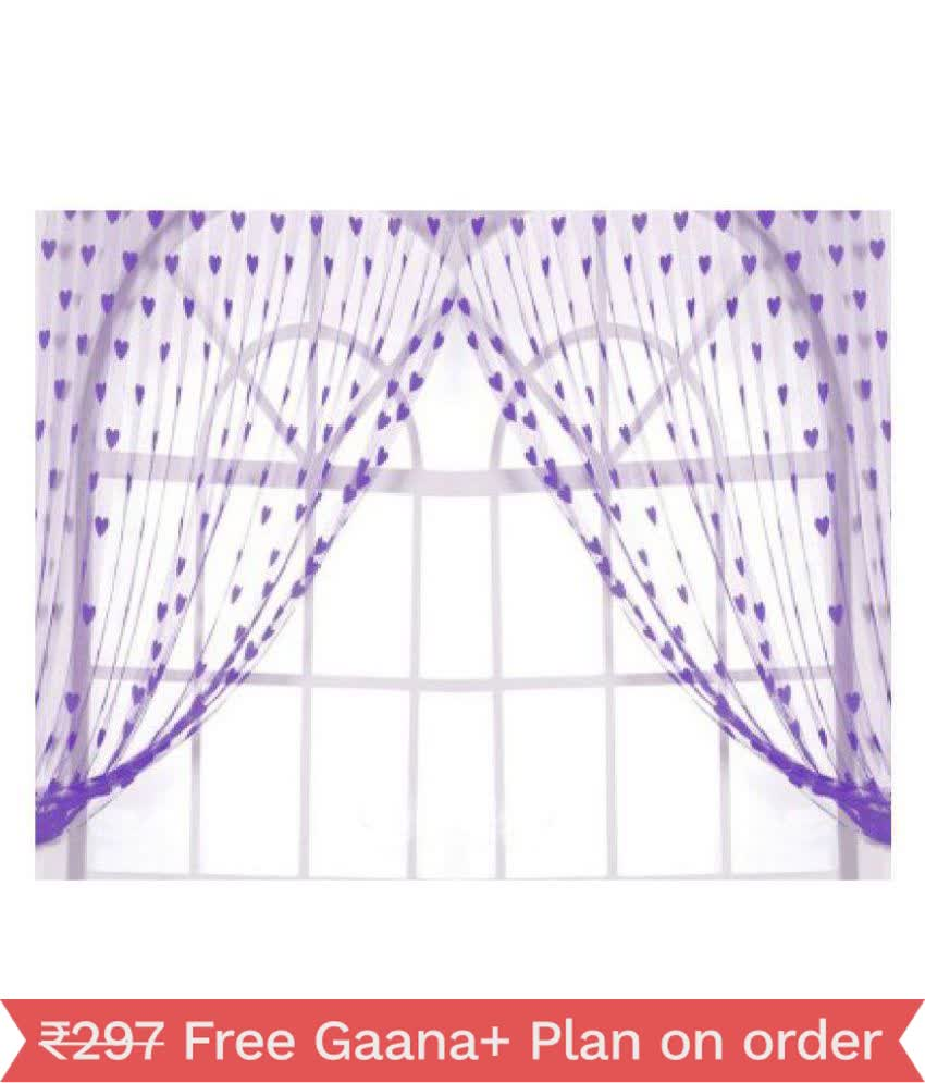 JARS Collection Arpan Purple heart string curtains-1PC