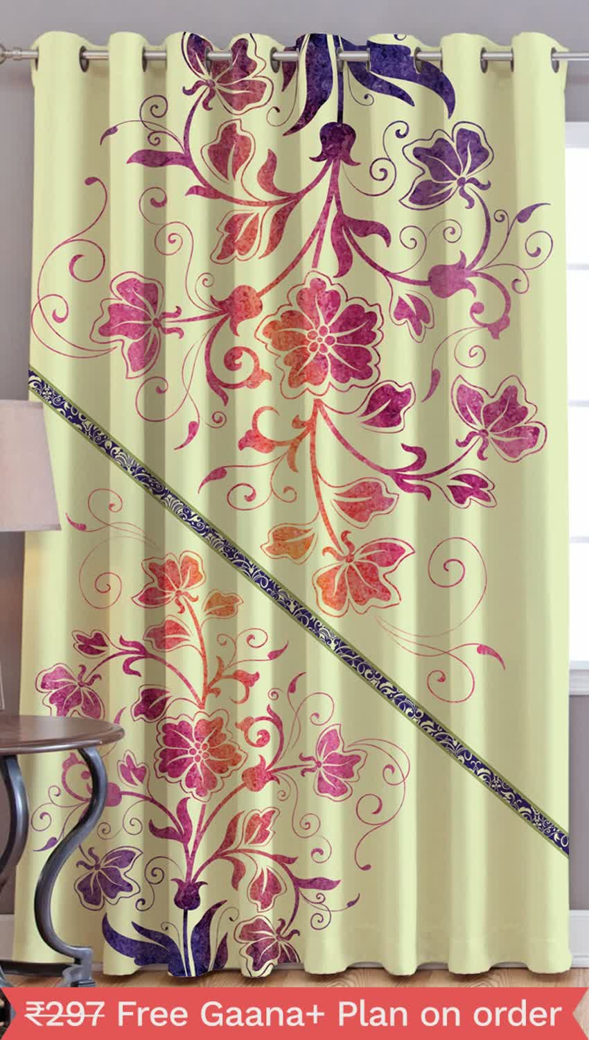 JARS Collections Digital Print Window Curtain-1pc