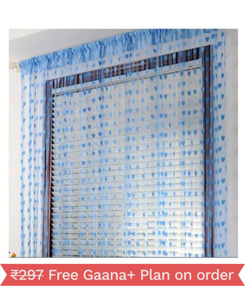 JARS Collection Arpan Blue heart string curtains-1PC