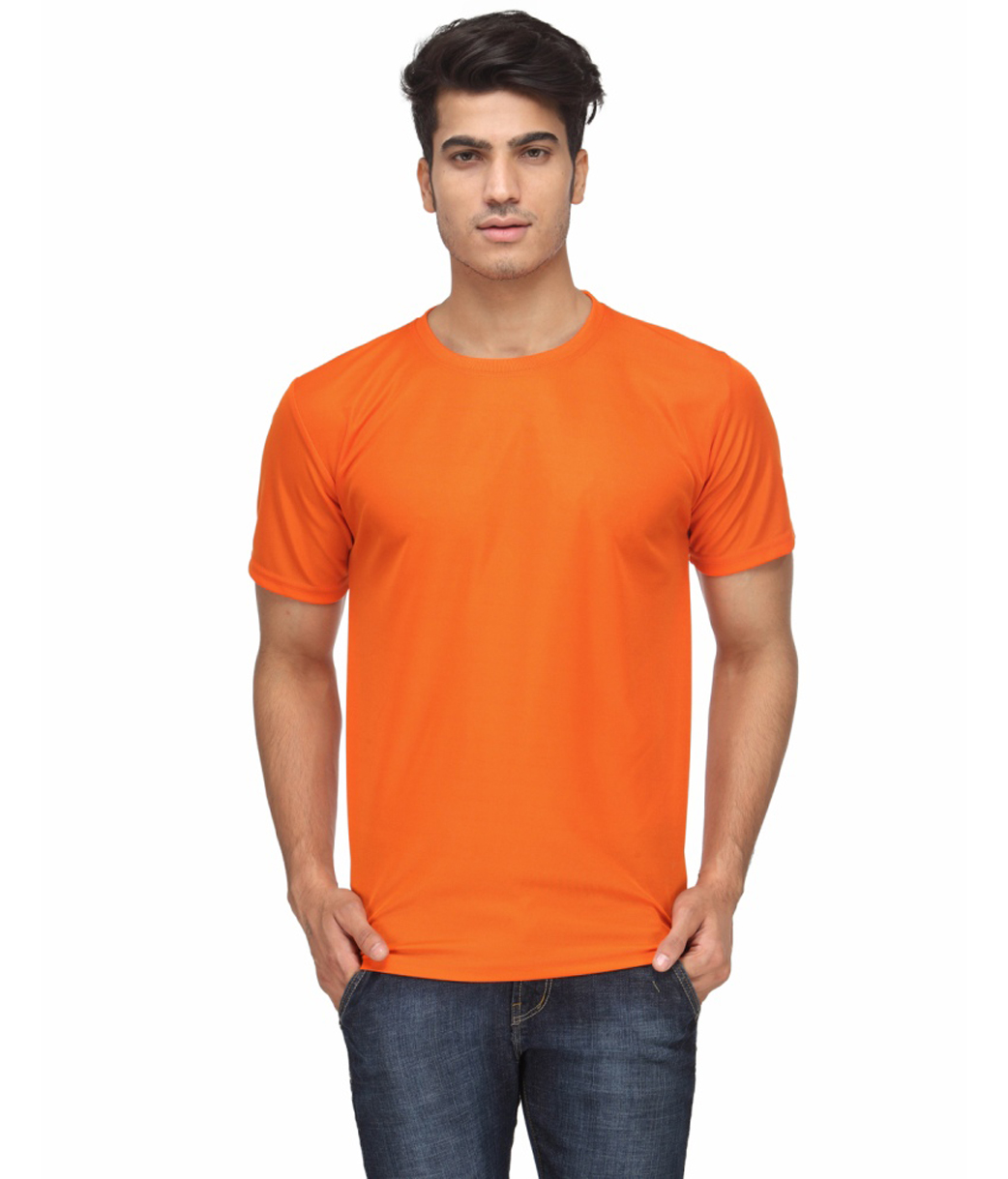 Ketex Orange Round Neck Slim Fit Tshirt