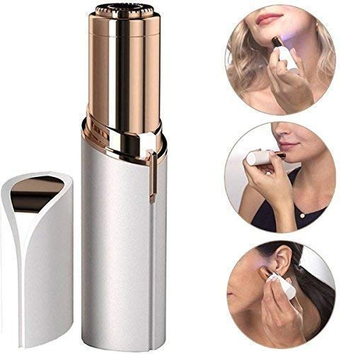 RSFuture Painless USB Electric Trimmer Hair Removal Shaver without Battery for Women's (white)