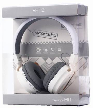 ClickAway SH12 wireless/ Bluetooth Headphone With FM and SD Card Slot/ with music and calling controls (Color - assorted) Bluetooth Headset�(Multicolor, On the Ear)