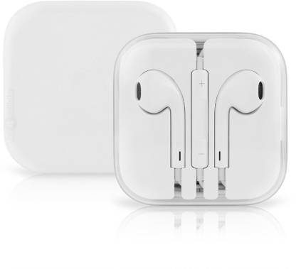 ClickAway Earphone Headset With Mic Wired Headset�(White, In the Ear)