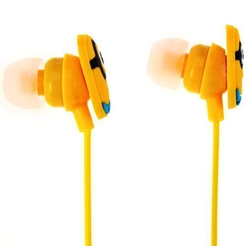 ClickAway Minions Kids in-Ear Earphone, Includes 3 Additional Earplug Covers Stereo Dynamic Wired Headphones