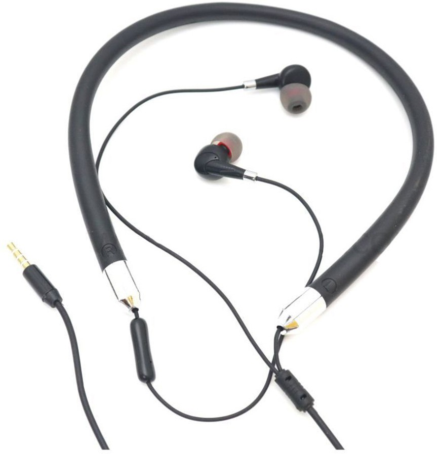 Hitage Active fir Sport Earphone Neckband with mic-NBH 725 Wired Headset (Black, In the Ear)