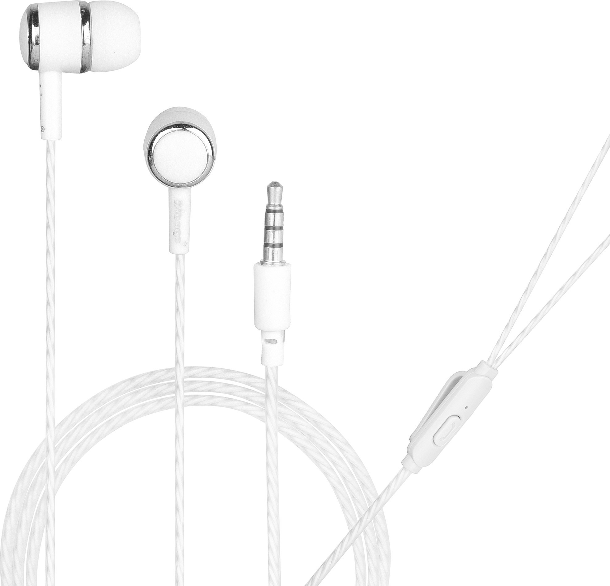 Hitage Round i like METAL earphone with One Key Answer Button Wired Headset (White, In the Ear)