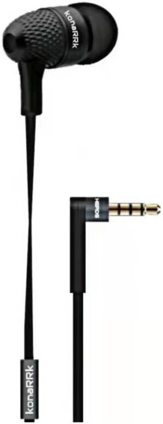 Bassheads 225 in Ear Wired Earphones with Mic(Black)