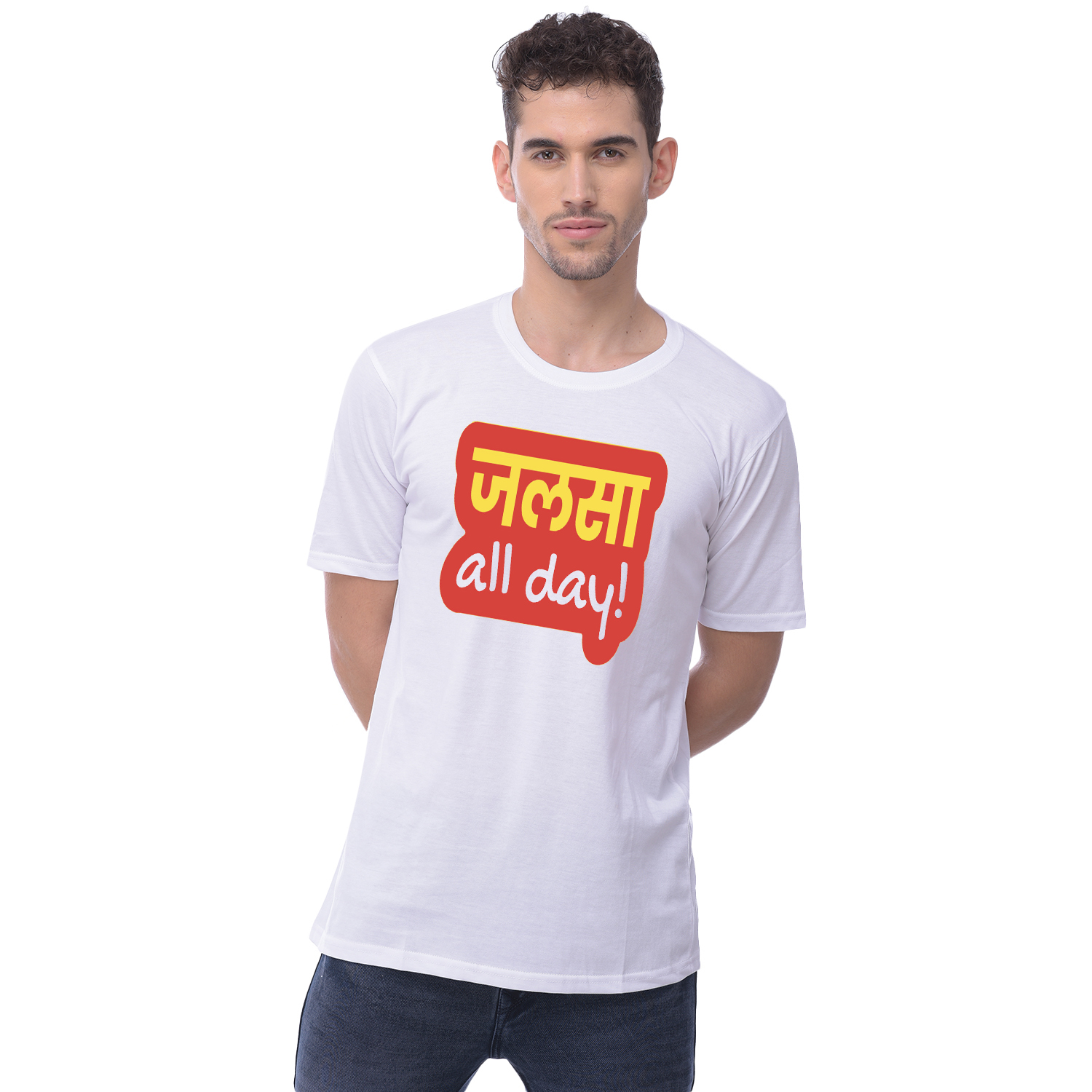 Harshys Graphic Printed White T-Shirt For Men