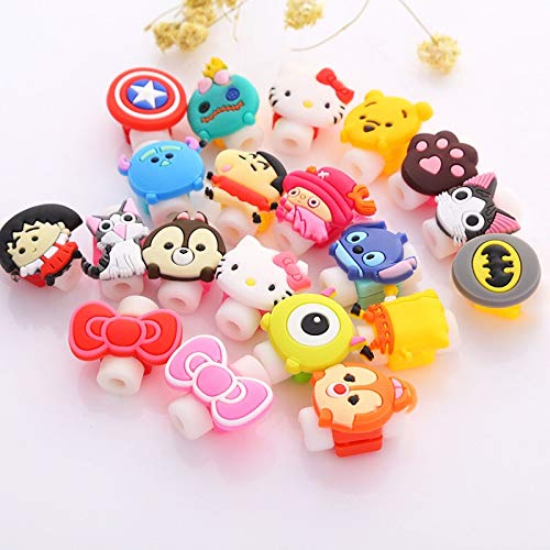 Drumstone Cable Protector Beads with Silicon Made Cartoon/Superhero Shape on Top