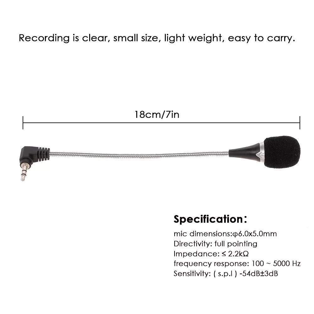 Drumstone 3.5MM Clip on Short Microphone for All Latest Smartphones
