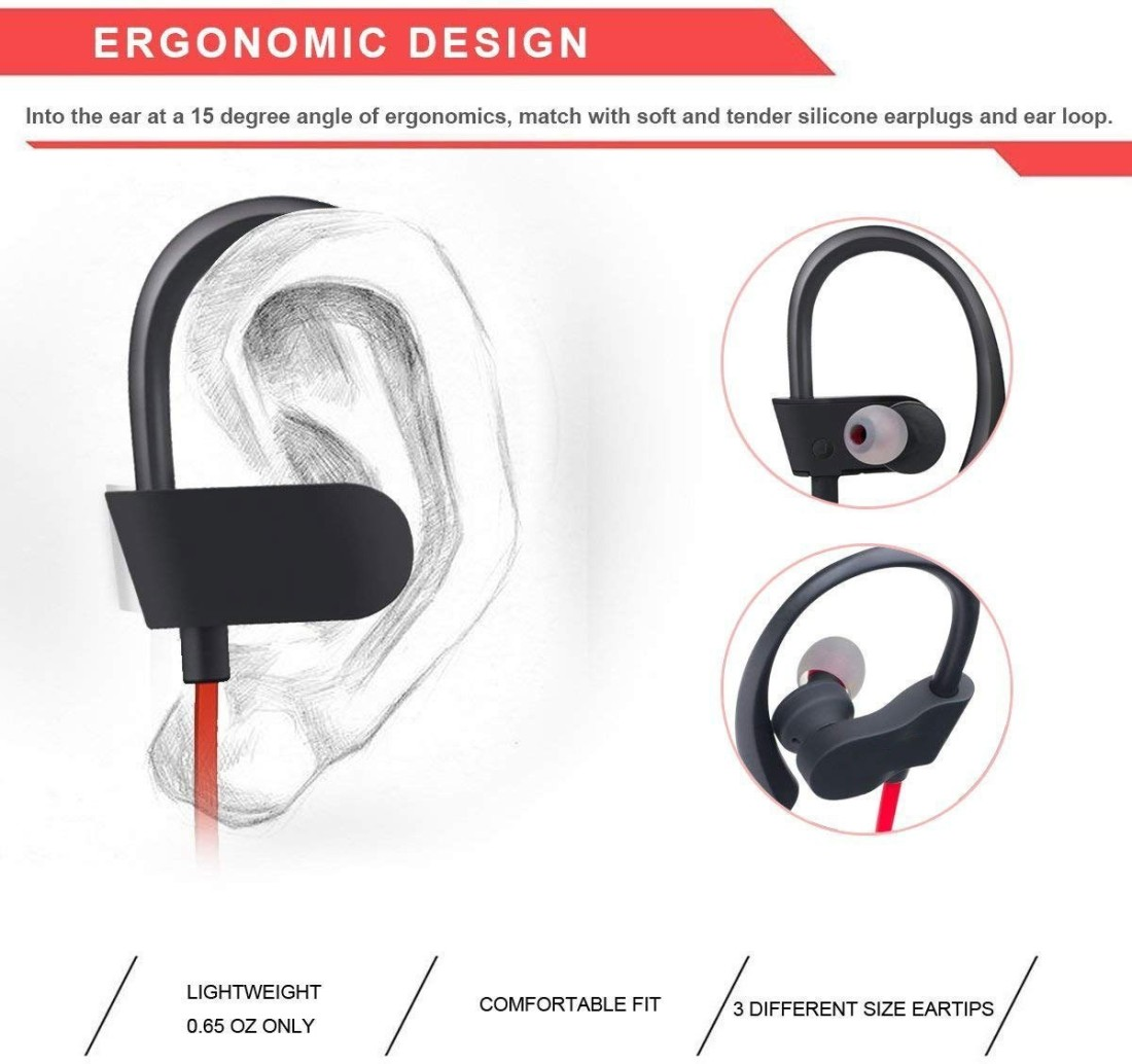 Drumstone QC10 Jogger Wireless Bluetooth Headphone for All Android or Smartphone