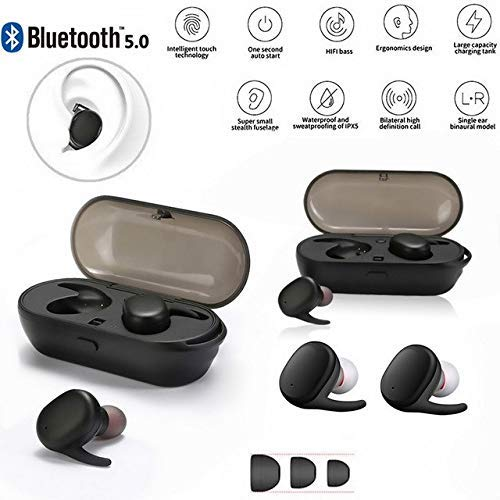 TWS4 Truly Wireless Earbuds Bluetooth Headphones, Sports in-Ear TWS Stereo Mini Headset