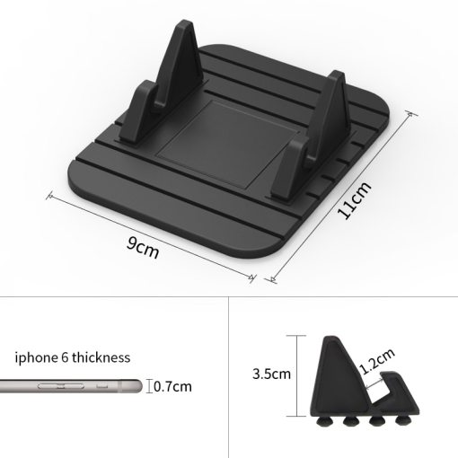 Drumstone Car Phone Holder Soft Silicone Anti Slip Mat Mobile Phone mount stands Bracket