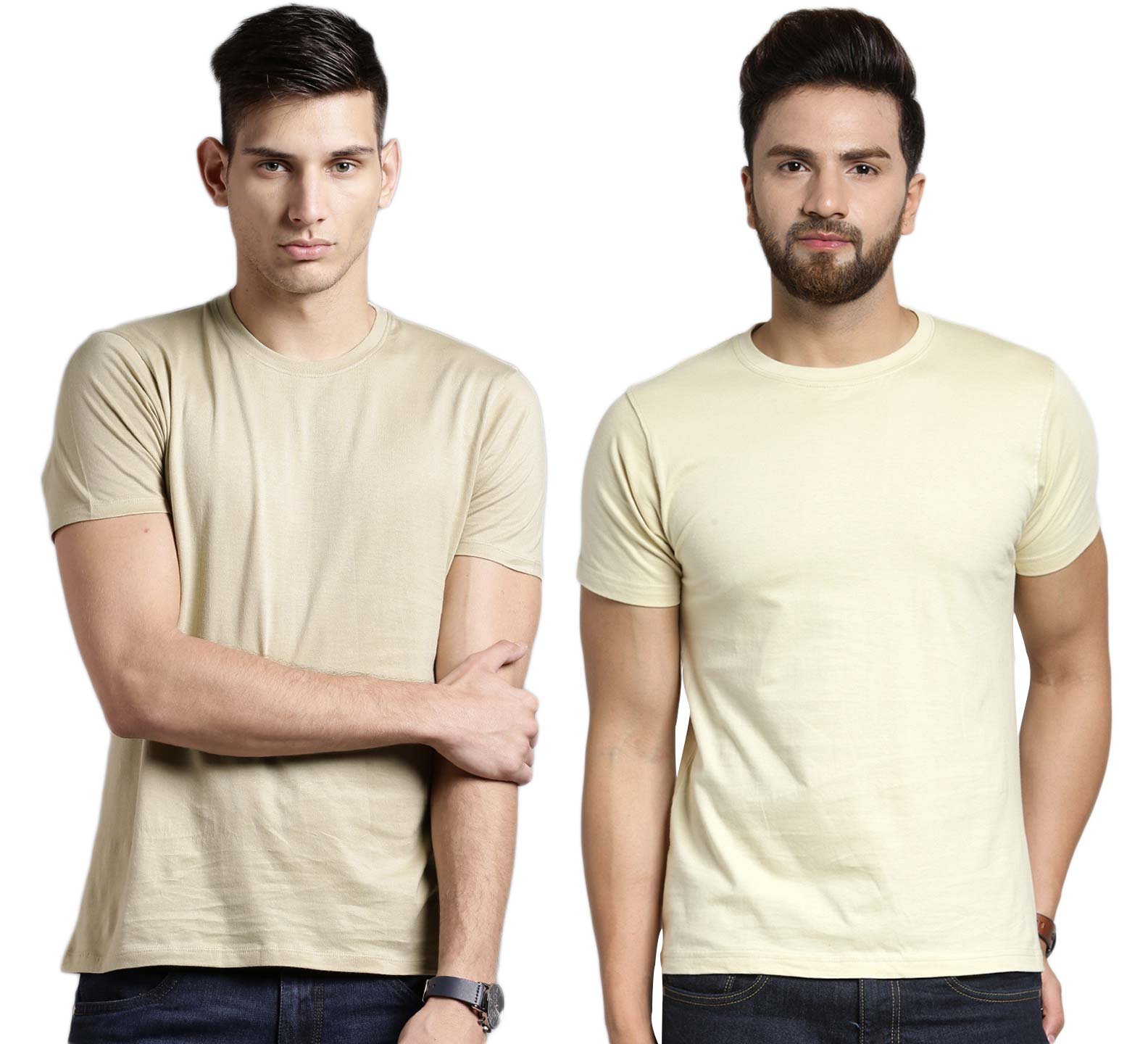 Pavis Polycotton Combo Of 2 T Shirts For Men