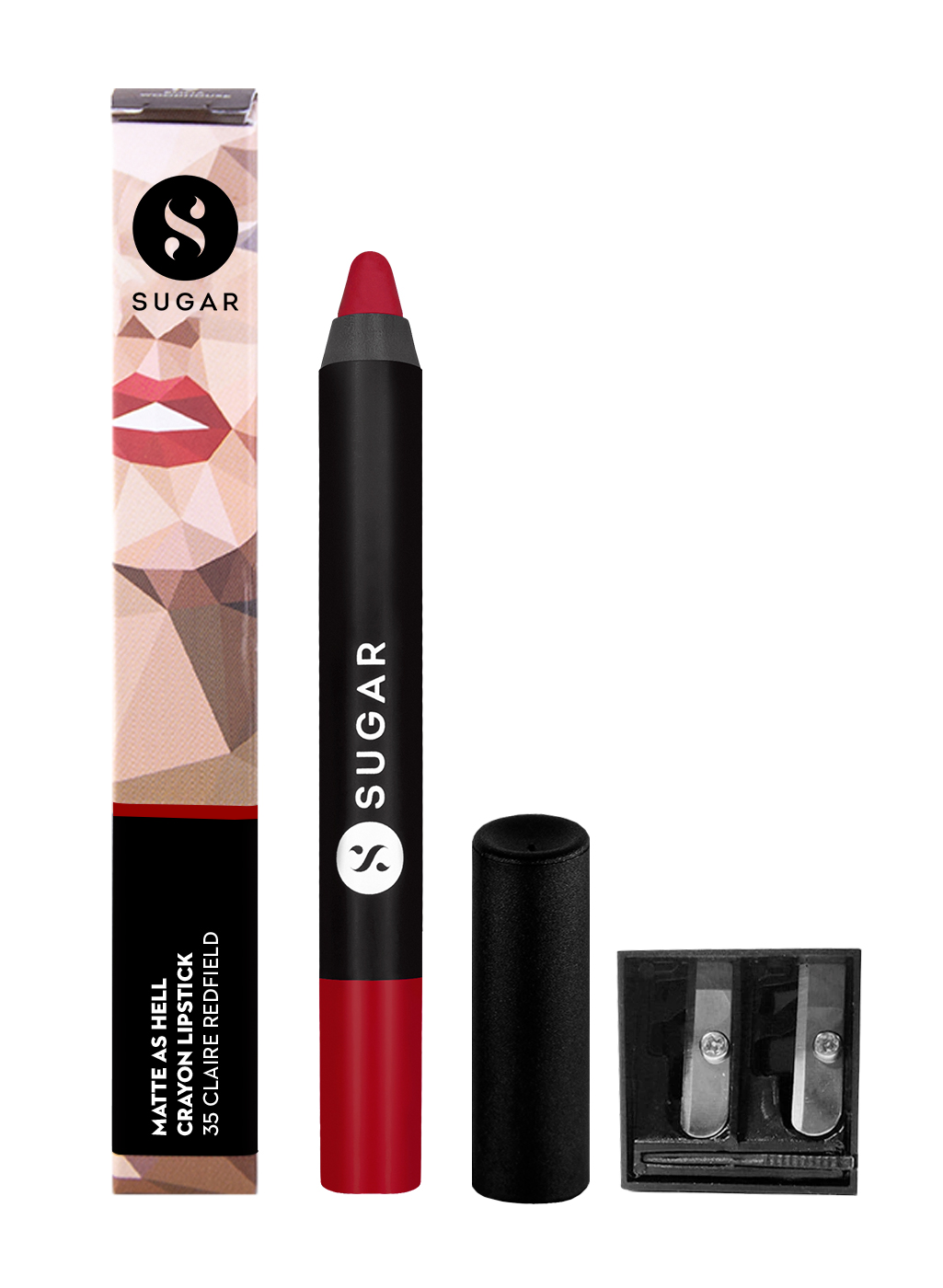 SUGAR Matte As Hell Crayon Lipstick - 35 Claire Redfield (Pure red)