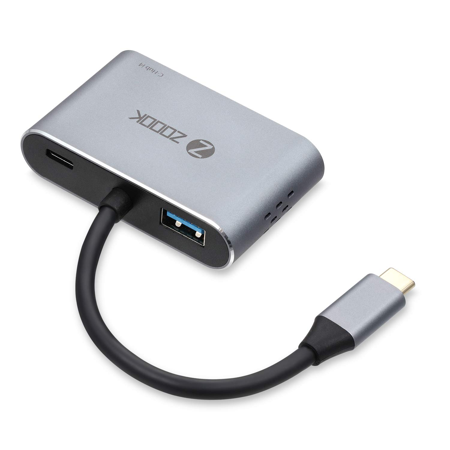 Zoook USB C to 4K HDMI VGA Adapter USB C Hub with 4K HDMI,1080P VGA,USB 3.0,USB C PD Charging Type C Multiport Adapter for MacBook Pro/Nintendo Switchi/Pad Pro/Dell XPS/Samsung