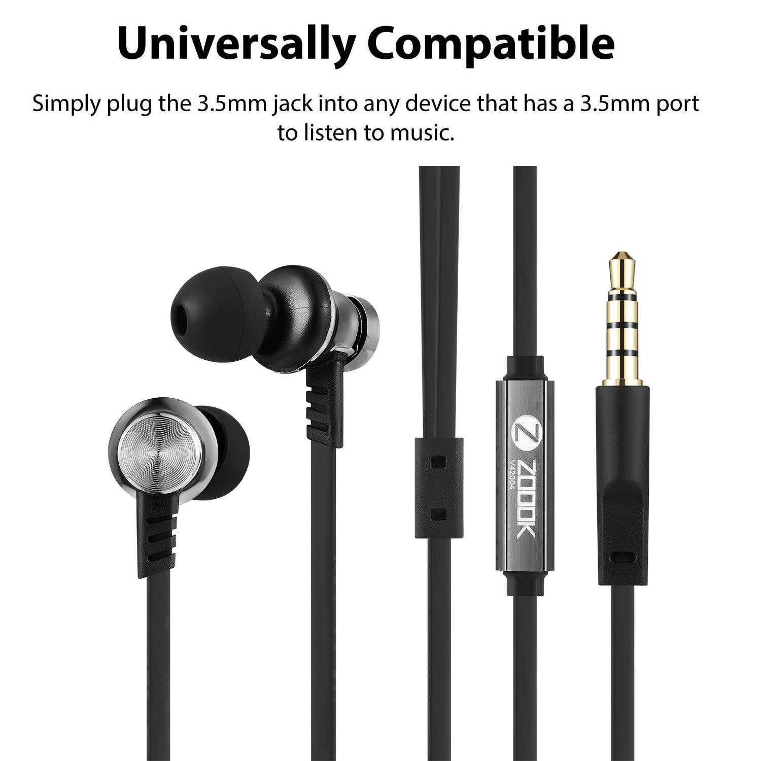 Zoook Opera Premium Noise Isolating Earphones with Super Heavy Bass Sound & in-Line Mic
