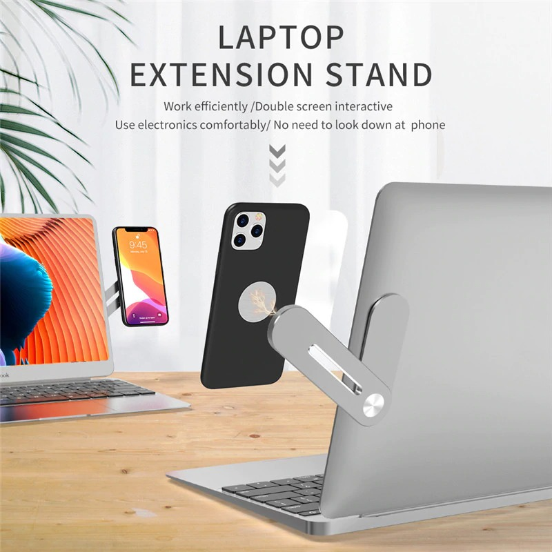 Nory Multi Screen Support Holder Laptop Side Mount Connects Phone Bracket Tablet Pad Holder Dual Monitor Display Clip Phone Stand