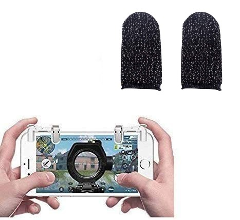 Nory Transparent 1 Pair of Sensitive Game Triggers for PUBG Out/Rules of Survival with Free Gaming Finger Sleeve Touchscreen Finger Gloves Anti-Sweat Touch and Sensitive