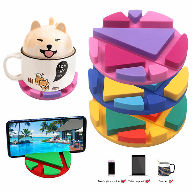 nory Multifunction Phone Holder Table Mat Silicone Cup Pad Desk Pen Card Mug Support Bracket Coaster VS Stand Phone Stand