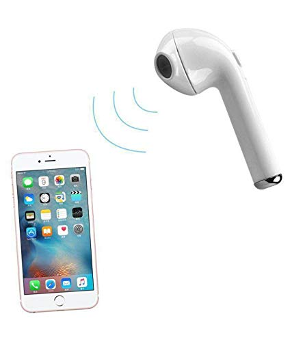 Nory pack of 2  Wireless Bluetooth i7 Headset Single Ear Compatiable with All Android