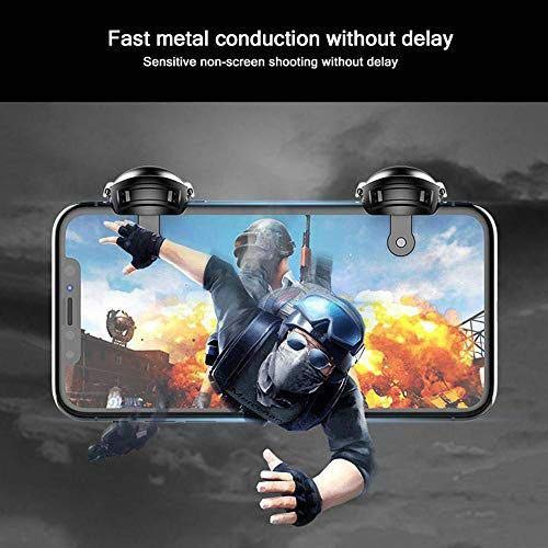 Nory Game Controller Level 3 Helmet Gaming Remote Trigger ((Metal)) 1 Pair of Sensitive Game Triggers for PUBG/Knives Out/Rules of Survival for All Android and iOS Phones/Mobile