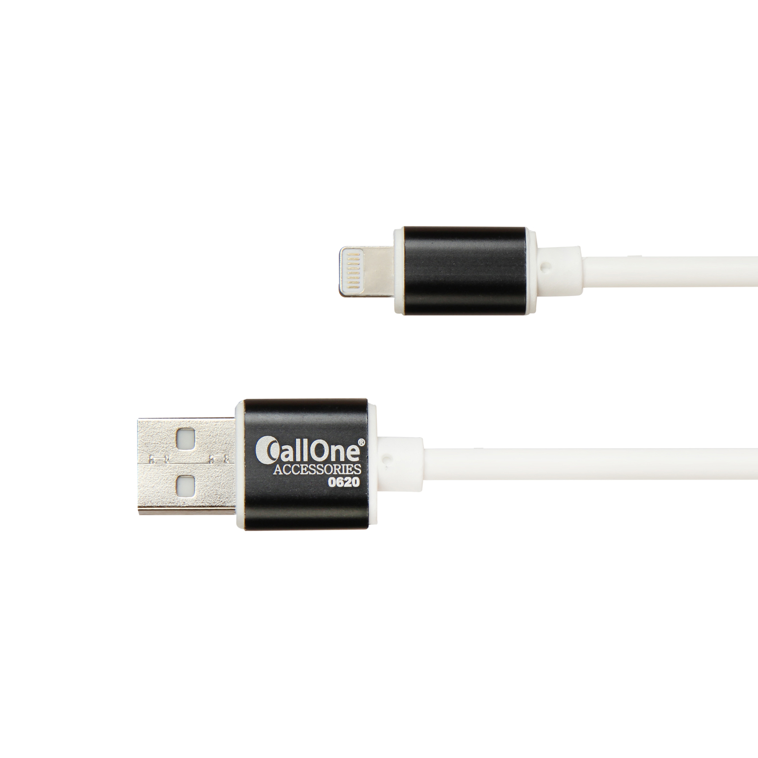 Callone Z-series Metal Cap Fast Data & Charging iPhone 5/6/7 USB Round Cable 4Amp.