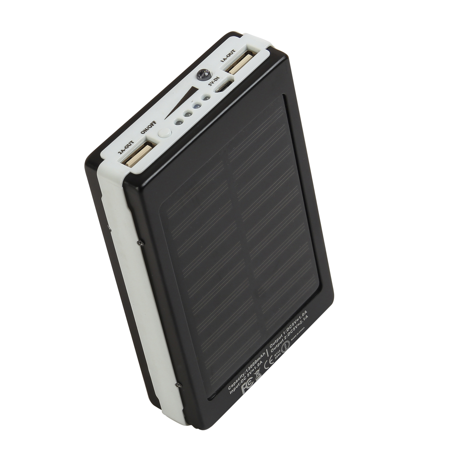 CallOne Solar LED Power Bank 13000 mAh with Dual USB Port